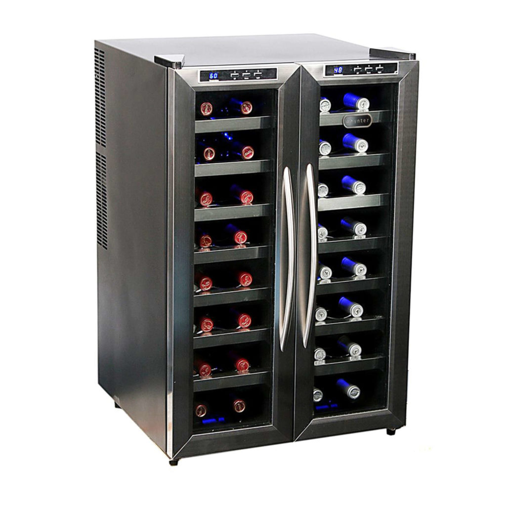 WC-321DD Whynter 32 Bottle Dual Temperature Zone Freestanding Wine Cooler